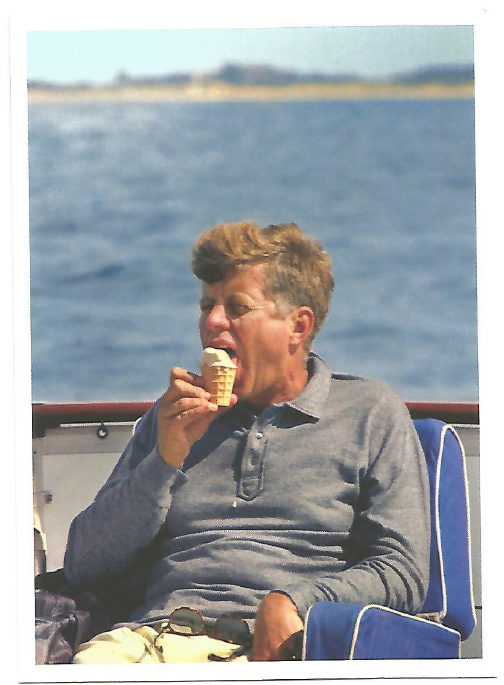 Like this gem of JFK eating an ice cream cone...