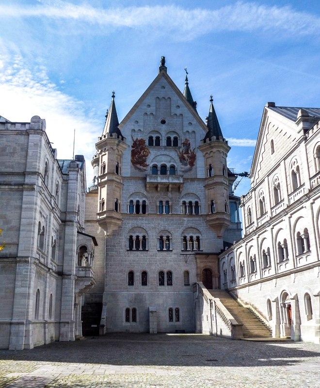 Front courtyard of Neuschwanstein Castle