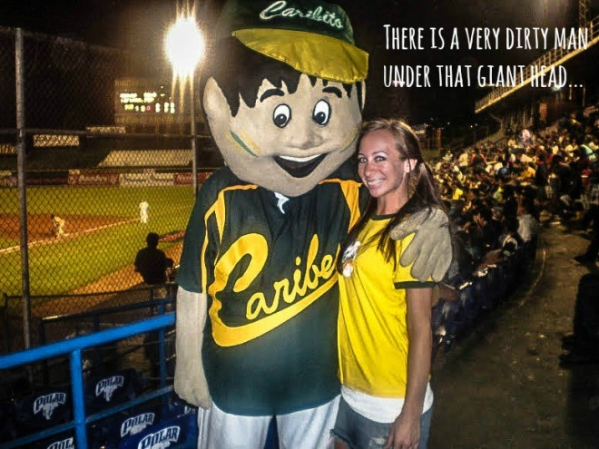 Caribes baseball mascot venezuela