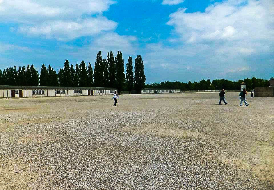 Grounds of Dachau concentration camp
