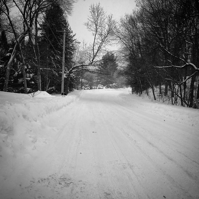 snowy street boston