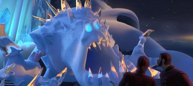 frozen snow monster